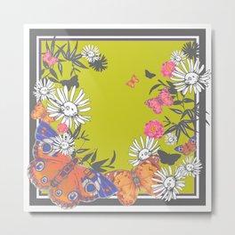 Flutterbies Metal Print