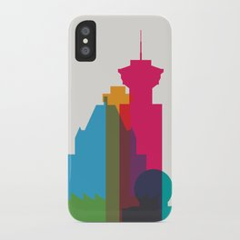 Shapes of Vancouver. Accurate to scale. iPhone Case