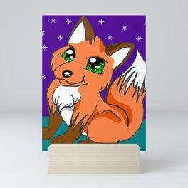 Cute Night Fox Mini Art Print