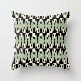 Mid Century Modern Diamond Pattern Sage Green 234 Throw Pillow