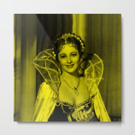 Oliva De Havilland - Celebrity (Photographic Art) Metal Print
