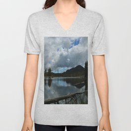 Sprague Lake Cloud Reflection Unisex V-Neck