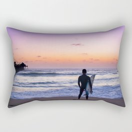 Surfer at Sunset Rectangular Pillow