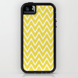Butter Yellow Southern Cottage Ikat Chevrons iPhone Case