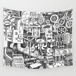 DINNER TIME FOR THE ROBOT Wall Tapestry