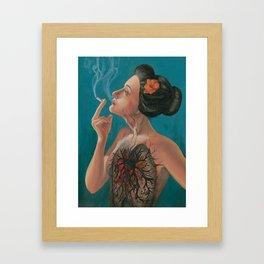 Smoking Hot Mess Framed Art Print