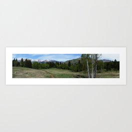 Tibble Fork Mountain Bike Trail Art Print