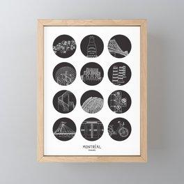 Montréal Highlights Framed Mini Art Print