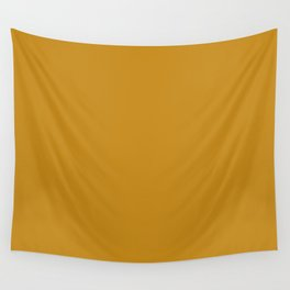 Best Seller Golden Mustard Solid Color Pairs w/ Sherwin Williams 2020 Trending Hue Auric Gold SW6692 Wall Tapestry