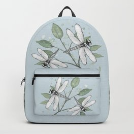 Two dragonflies Backpack