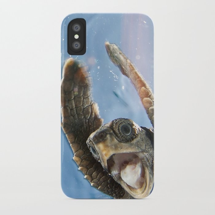 Screaming Turtle iPhone Case by echeng