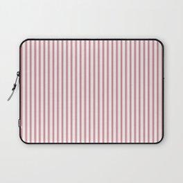 Mattress Ticking Narrow Striped USA Flag Red and White Laptop Sleeve