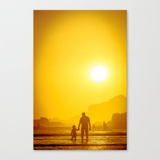 The first time he saw the ocean Canvas Print