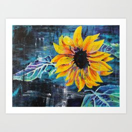 Sunshine Daisy Butter Mellow Art Print