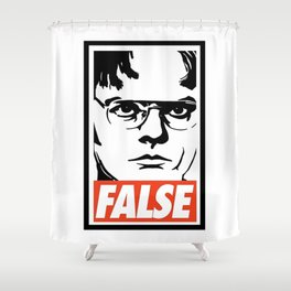 Schrute False Shower Curtain