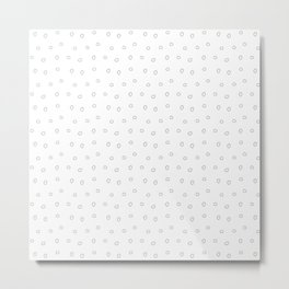 Light grey minimal hand drawn ring pattern Metal Print