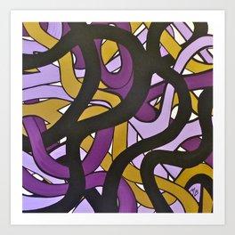 Roads Purple Art Print