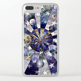 Space Odyssey - Celestial Bodies II Clear iPhone Case