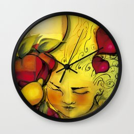"""The first sun, the first kiss"" Wall Clock"
