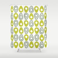 avocado Shower Curtains featuring Avocado by curious creatures