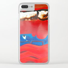 Weeping forest Clear iPhone Case