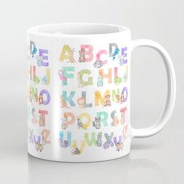 Watercolor Alphabet Animals Coffee Mug