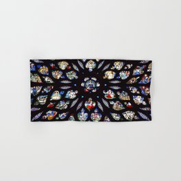 Stained glass sainte chapelle gothic Hand & Bath Towel