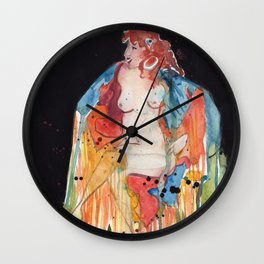 Full Moon Witch Wall Clock