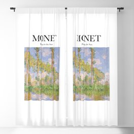 Monet - Poplars in the Sun Blackout Curtain