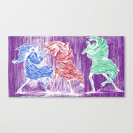 Three Assassins Canvas Print