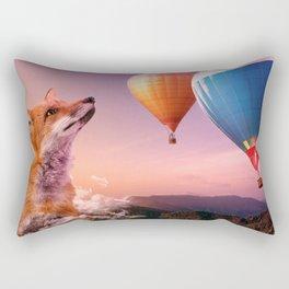 Dreamy fox in the sunset Rectangular Pillow