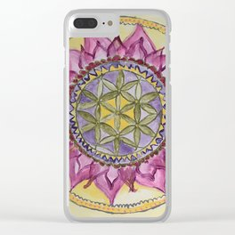 Sacred Lotus Clear iPhone Case