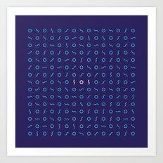SOS Art Print