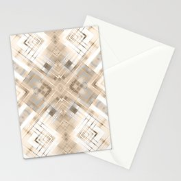 Beige abstract pattern . Stationery Cards