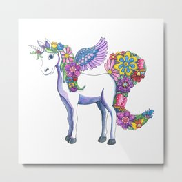 Madeline the Magic Unicorn Metal Print