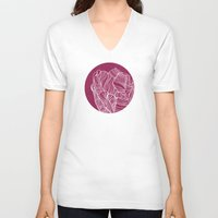 tulip V-neck T-shirts featuring Tulip by Annike
