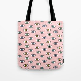 Evil Eye Pattern Tote Bag