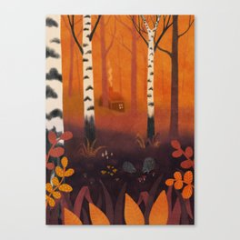 Hedgehog Forest Canvas Print