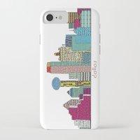 dallas iPhone & iPod Cases featuring Dallas city  by bri.buckley