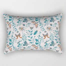 Insects and Moths Frolicking in the Day Rectangular Pillow