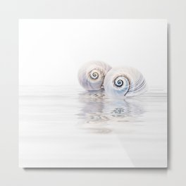 Snail Shells On Water Metal Print