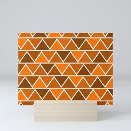 Modern Abstract Art Pattern Orange Triangles Simple & Artistic Mini Art Print