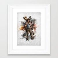 tomb raider Framed Art Prints featuring Tomb Raider Reborn... by 187designz