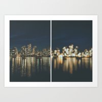 vancouver Art Prints featuring Vancouver  by Luke Gram