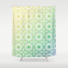 Circle Fretwork Shower Curtain