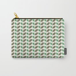Simply Leaves & Flowers Green & Brown Carry-All Pouch
