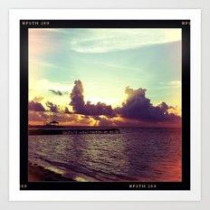 Belizean Sunrise Art Print