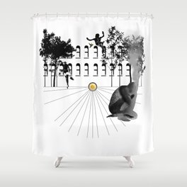 The Mind Burning Shower Curtain