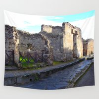 infamous Wall Tapestries featuring Pompeii Ancient Dwelling - 2 by Alaskan Momma Bear