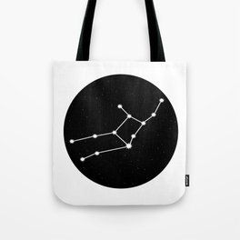 Virgo Star Sign Night Sky Circle Tote Bag